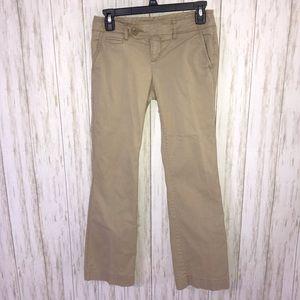 American Eagle Outfitters Khaki bootcut pants 0